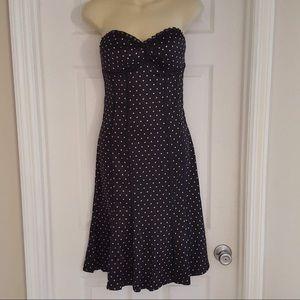 Bebe silk corset strapless dress